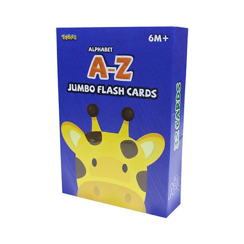 Toybies Jumbo Flash Card - A to Z (English-Chinese-Thai)