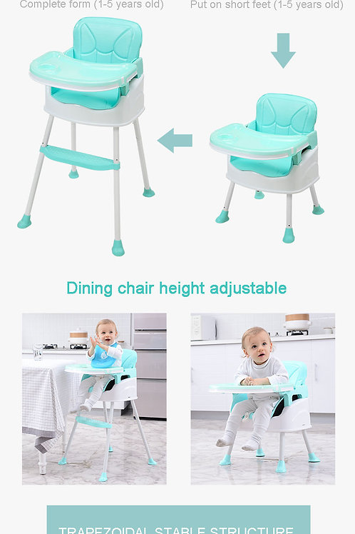 BestBaby 3 in 1 Foldable Portable Plastic Dining Baby High Chair