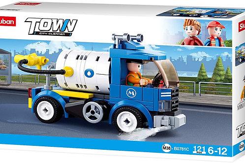 Sluban M38-B0781C Town - City Cleaner Water Truck 121 pcs