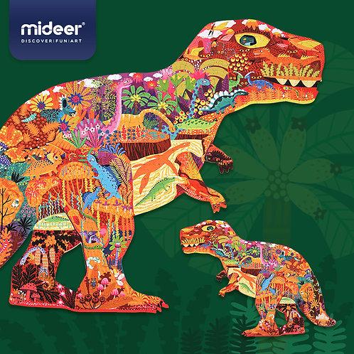 MiDeer Large Animal Shape Puzzle Dinosaur World (280 pcs)