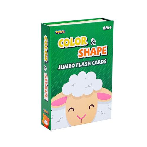 Toybies Jumbo Flash Card - Color & Shape (English-Chinese-Thai)
