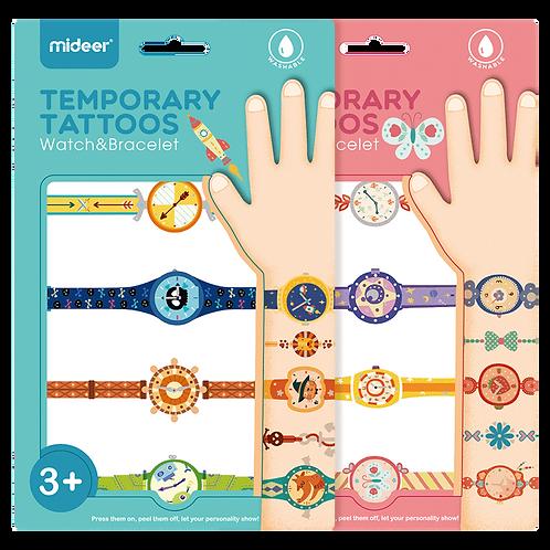 Mideer Temporary Tattoos Watch&Bracelet-Boy/Girly