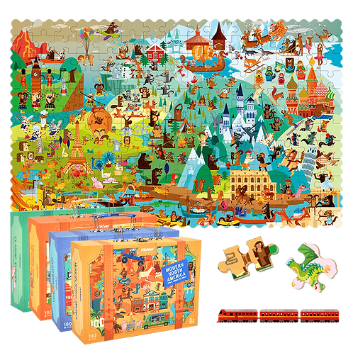 MiDeer Travel Around The World Puzzle - 180 pcs/box