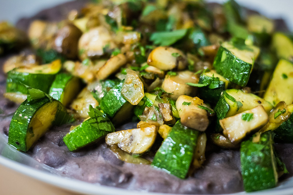 Black Bean Spring Vegetable Compote