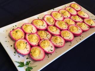 Chef Steven's Beet Pickled Deviled Eggs