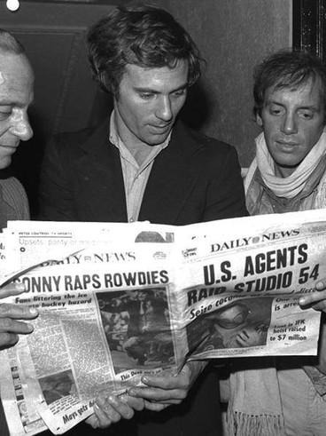 Roy Kohn, Ian Schrager and Steve Rubell.