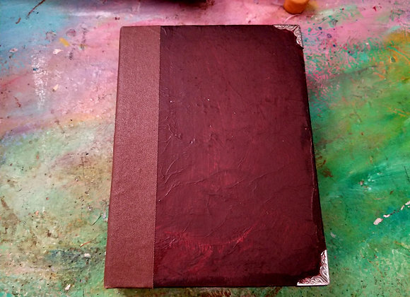 Faux-leather handmade watercolor sketch book