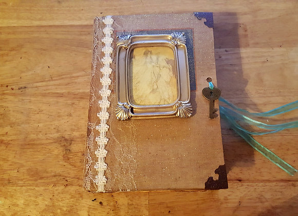 Family Themed Vintage Handsewn Journal