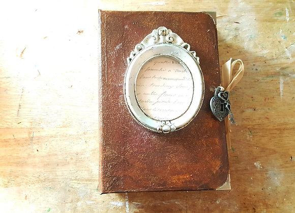 Chunky Faux Leather Handsewn Vintage Journal