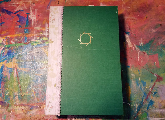 Large Vintage Handsewn Journal (Green)