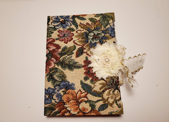 Floral Vintage Fabric-covered Handsewn Journal