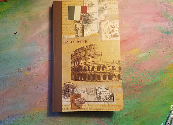 Handsewn Vintage Rome Travel Journal