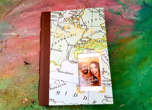 Vintage Handmade Travel Journal