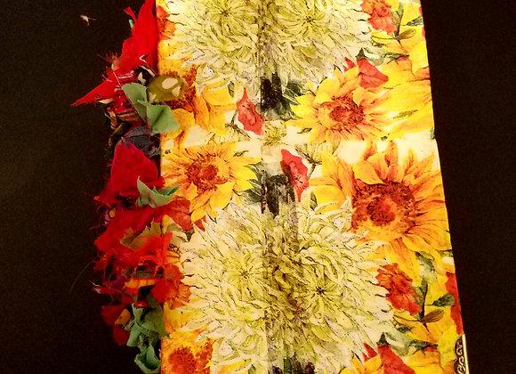 Chunky Spring Sunflower Handmade Journal