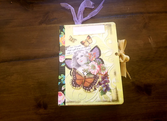 Small Whimsical Floral Handsewn Journal