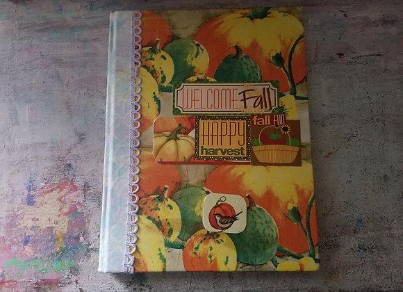 XL Handsewn Fall-themed Journal