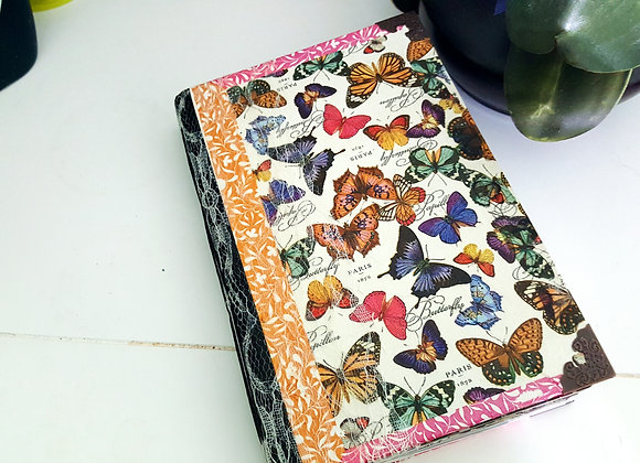 Large Colorful Butterfly Cover Handsewn Journal