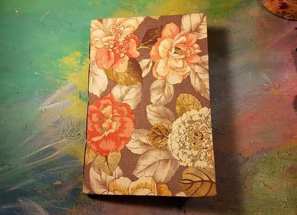 Floral Fabric-covered Handsewn Journal