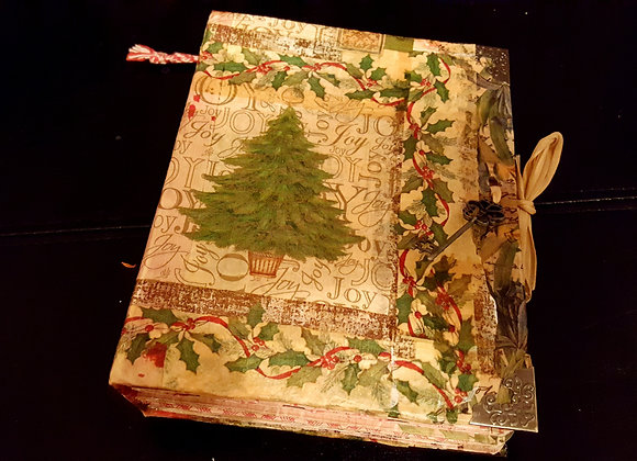 Small Vintage Christmas Handsewn Journal/Album