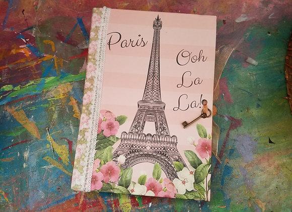 Paris-themed Handsewn Journal