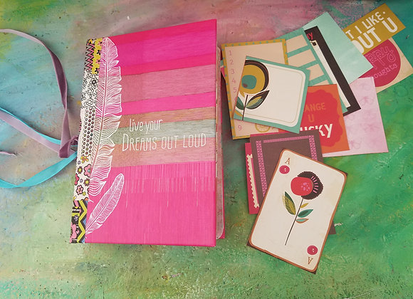 Colorful Bohemian-style Handsewn Journal