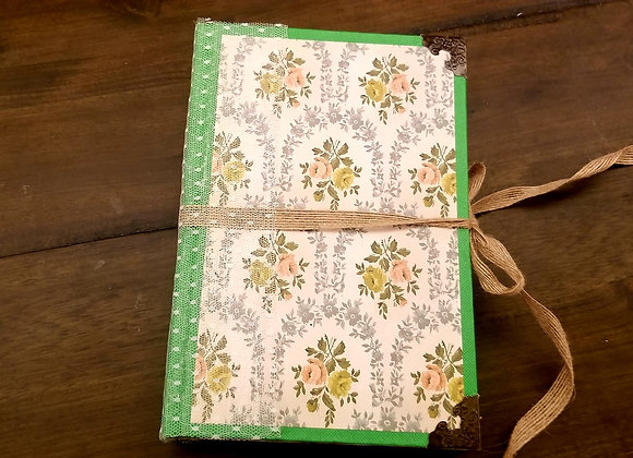 Floral Fabric-themed Handsewn Journal