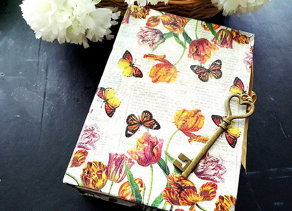 Large Chunky Tulip Cover Handsewn Journal