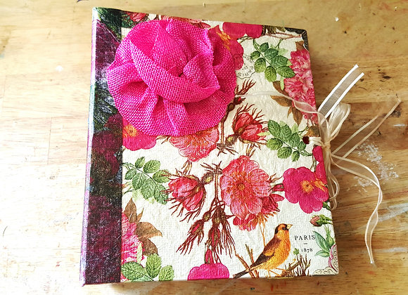 Floral Cover Handsewn Journal