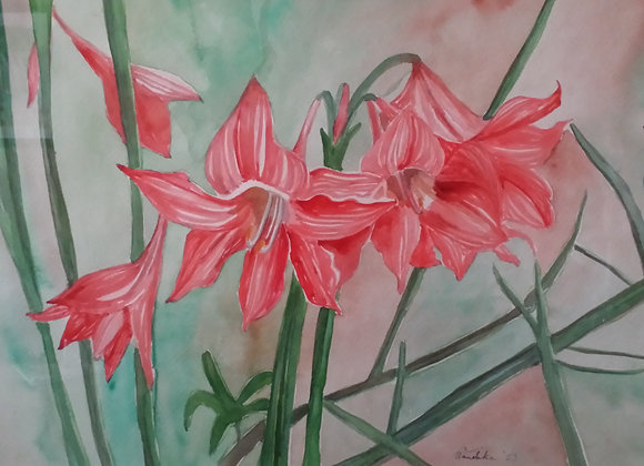 "Original Watercolor Painting ""Easter Lilies 2"" (Unframed)"