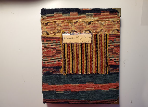 Large Fabric-Covered Vintage Handewn Journal