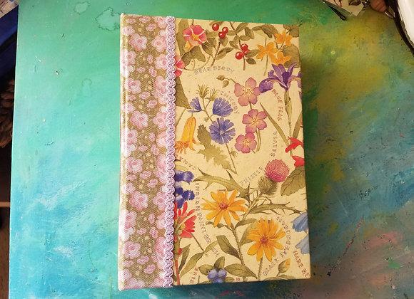 Chunky Handmade Floral Junk Journal