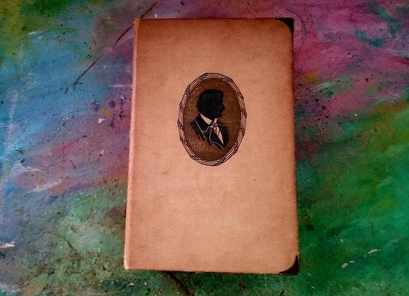 Chunky Writing-themed Vintage Handmade Journal