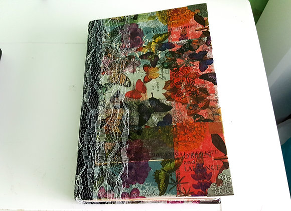 Large Colorful Floral Cover Handsewn Journal