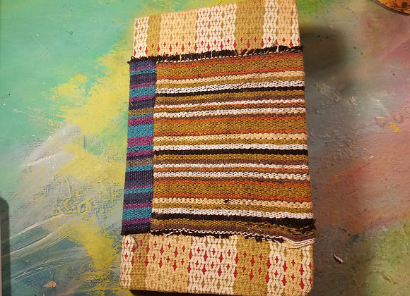 Fabric-Covered Handsewn Journal (Stripes)