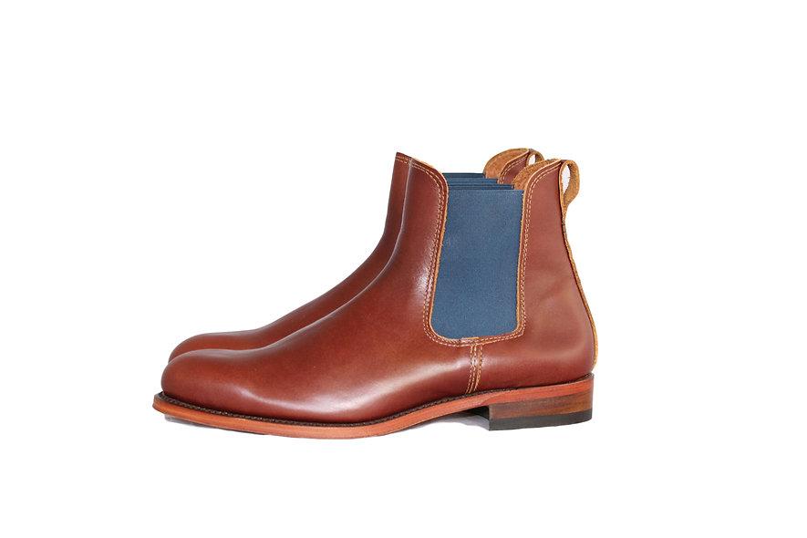 Boots Homme Noisette et Bleu