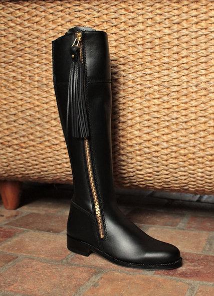 La Jane noire cuir lisse modèle d'expo
