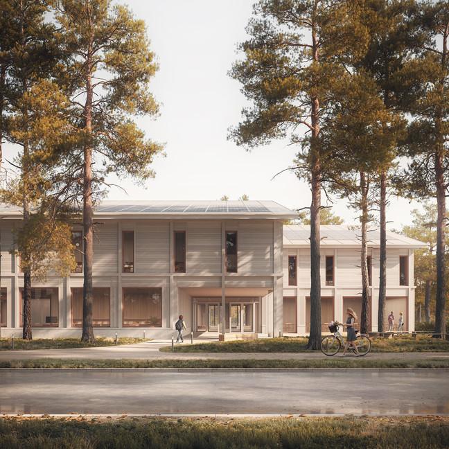 COMPETITION ENTRY - BUJNOWSKI ARCHITEKCI - LIBRARY AND KINDERGARDEN IN JÓZEFÓW
