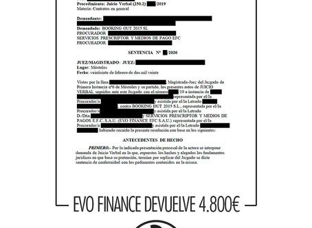 EVO FINANCE devuelve 4.800€ a un cliente de Abogados Legalsha