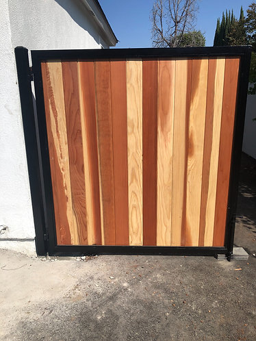 4'X6' Metal Frame with T&G Redwood
