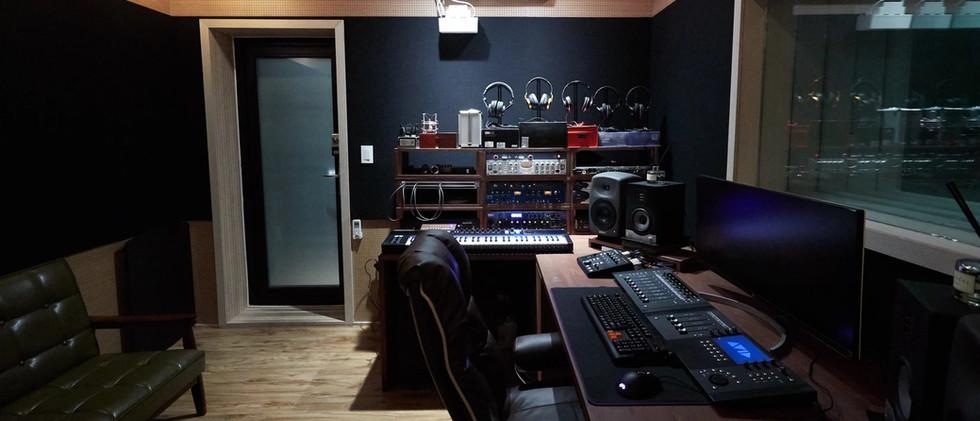 후반 사운드 작업현장