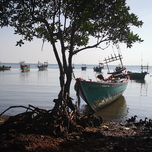 Village de pêcheurs, Kep, Cambodge