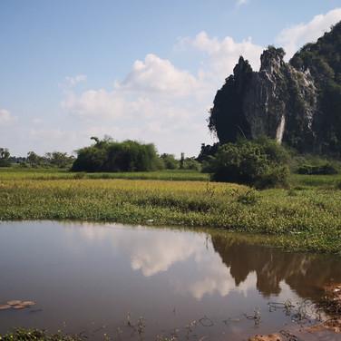 Campagne de Kampot, Cambodge