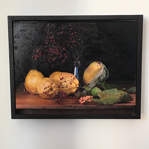 Still Life, Quince and Rosehip
