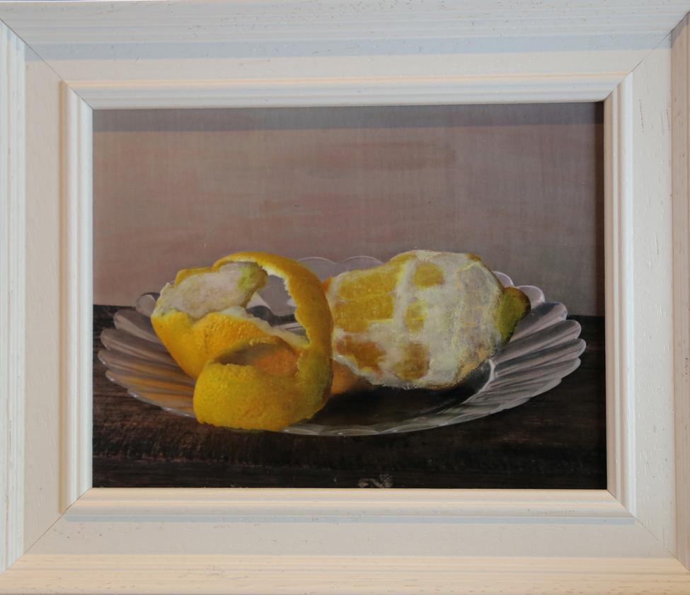 Lemon on a glass plate  Sold