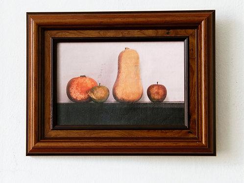 A Pumpkin, 2 Apples and a  Squash