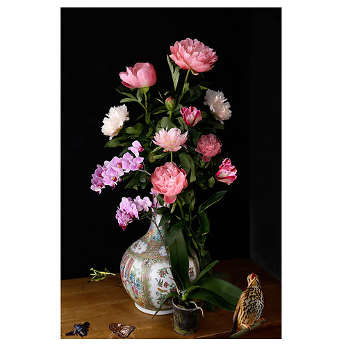 A Vase of Flowers - Peony and Orchid