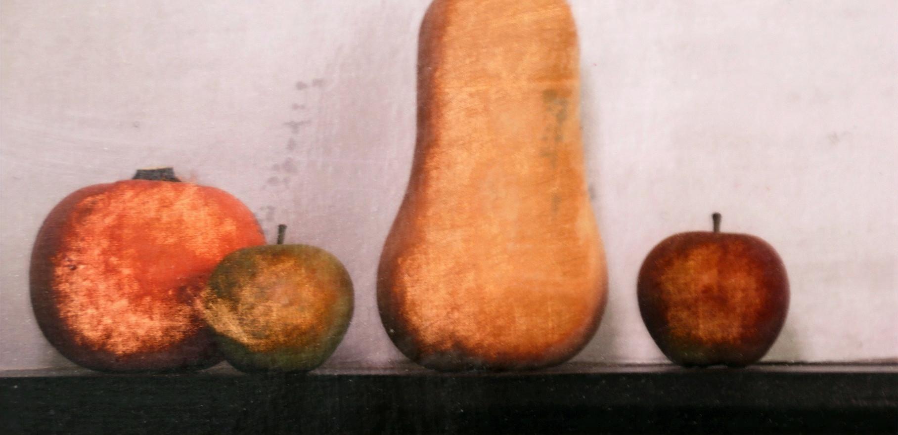 A Pumpkin, 2 Apples and a Squash - image
