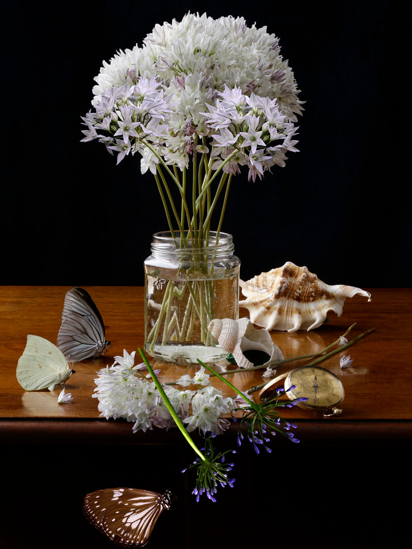 A Vase of Flowers Brodiaea and Agapanthus