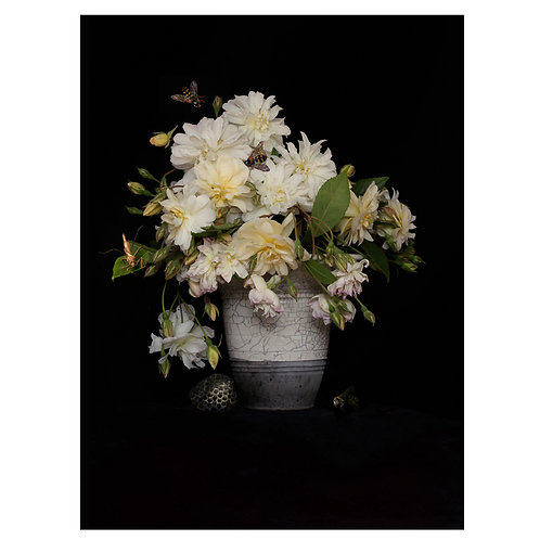 A Vase of Flowers, Rambling Rose