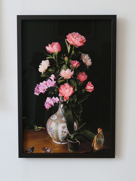 A Vase of Flowers, Peony and Orchid